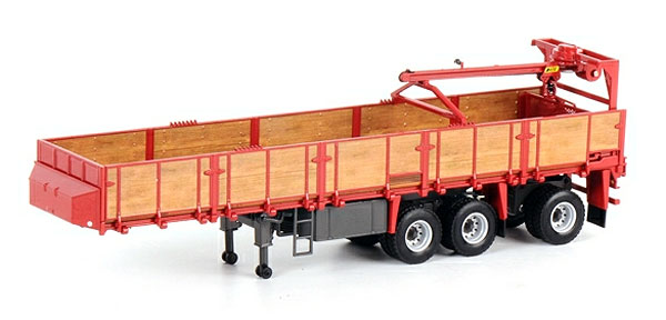 13-1020 - WSI Model 3 Axle Classic Brick Trailer White