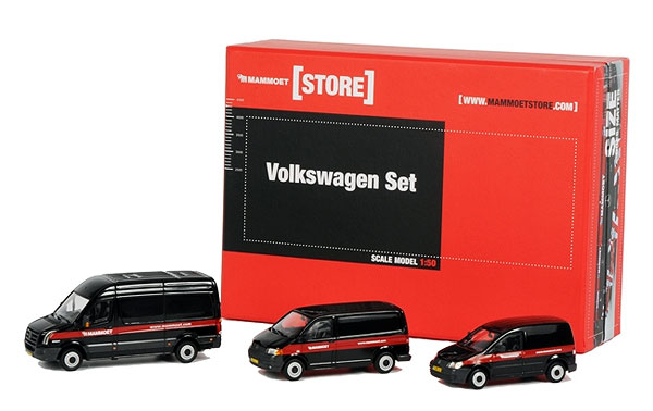 410027 - WSI Model Mammoet 3 Piece Volkswagen Van Set