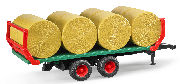BRUDER - 02220 - Bale Transport Trailer