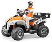 BRUDER - 63000 - Quad ATV with Rider