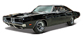 MAISTO - 31387MBK - 1969 Dodge Charger
