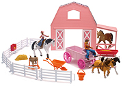 NEW-RAY - SS-05786 - Horse Barn Playset