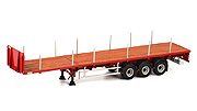 WSI - 04-1137 - 3-Axle Flatbed Trailer
