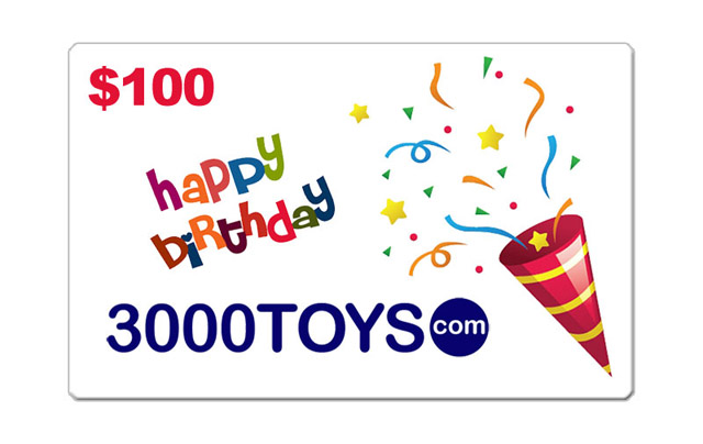 EB100 - 3000toys Birthday E Gift Card Give them