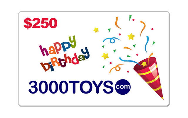 EB250 - 3000toys Birthday E Gift Card Give them