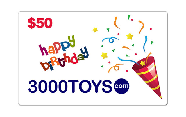 EB50 - 3000toys Birthday E Gift Card Give them