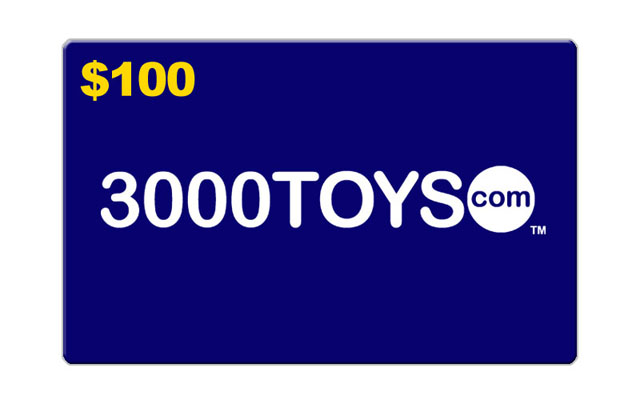 EG100 - 3000toys E Gift Card Give them an