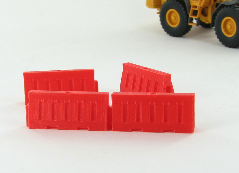 50-102-R - 3d To Scale Plastic Safety Barriers water filled style 4