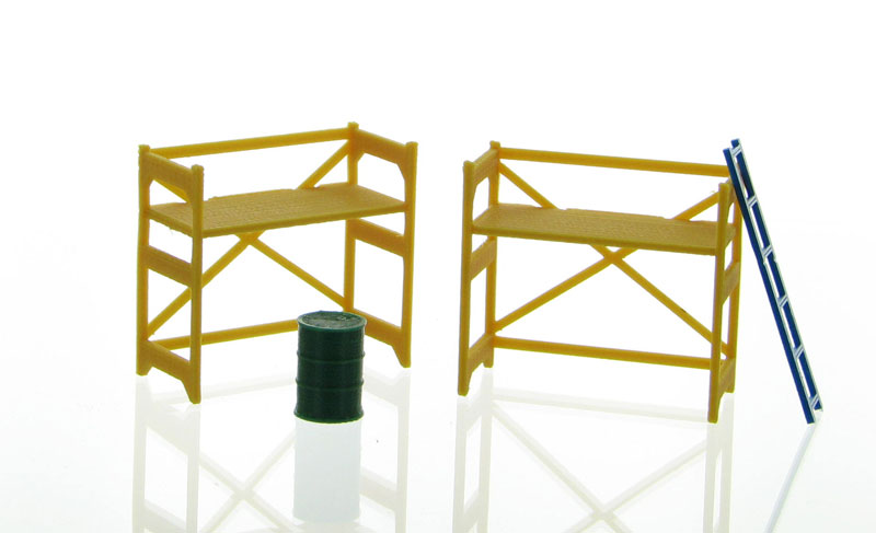 50-150-Y - 3d To Scale Scaffolding Set Yellow
