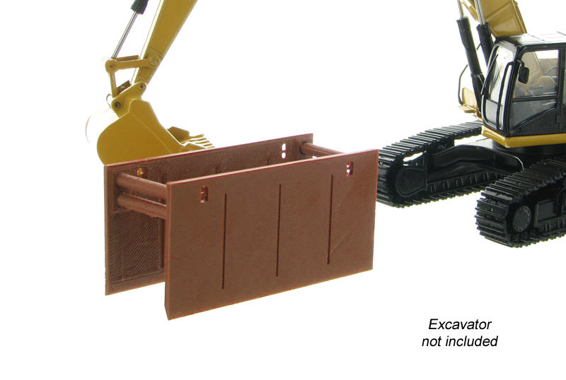 50-165-BN - 3d To Scale Trench Box _ Guard Brown ABS