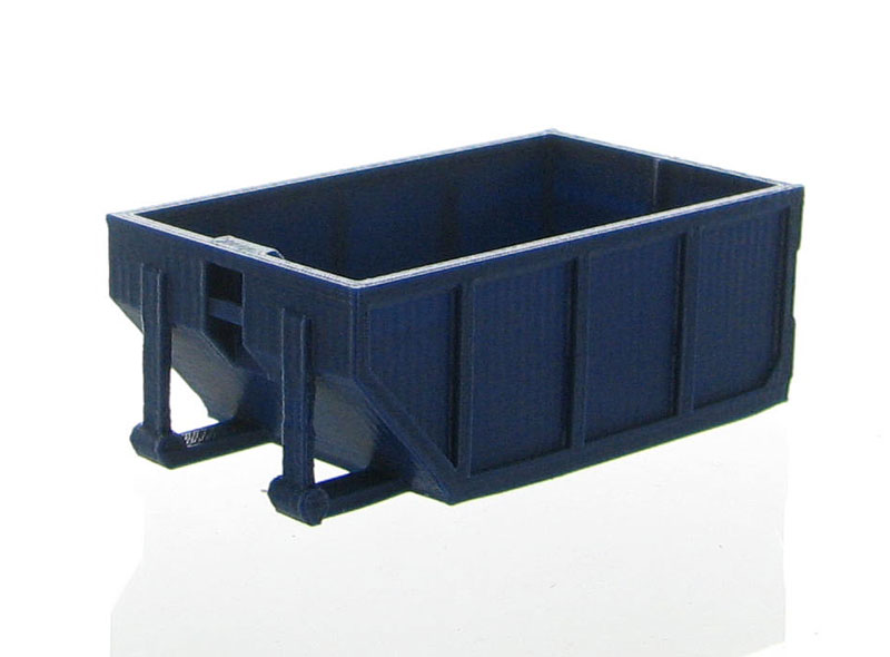 50-235-DB - 3d To Scale Rolloff Dumpster 10 yards dark blue ABS