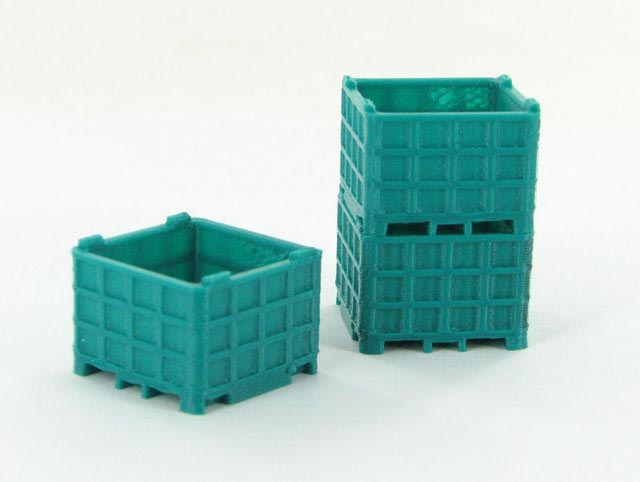 50-252-BG - 3d To Scale Plastic Bin Pallet Bluegreen 3 Pack ABS
