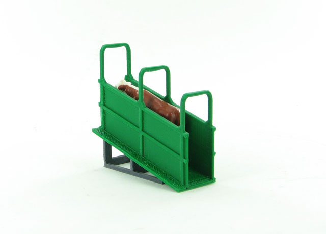 64-310-GR - 3d To Scale Livestock Loading Chute semi trailer height ABS