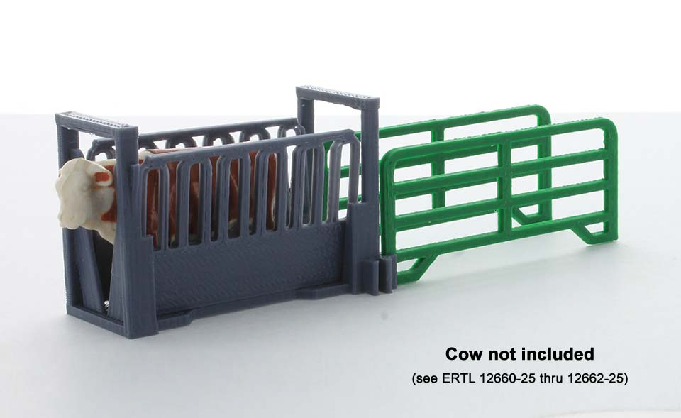 64-316-GY - 3d To Scale Livestock Squeeze Chute kit
