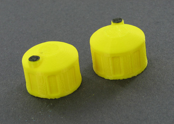 64-325-Y - 3d To Scale Bulk Fluid Tank yellow 2 pack ABS