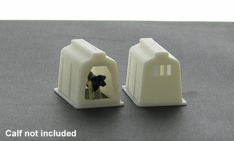 64-335-WT - 3d To Scale Poly Calf Shelter White 2 Pack ABS
