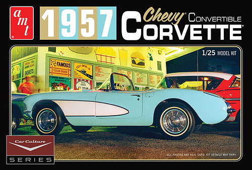 1015 - AMT Car Culture 1957 Chevy Corvette Convertible