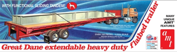 1111 - AMT Great Dane Extendable Flatbed Trailer