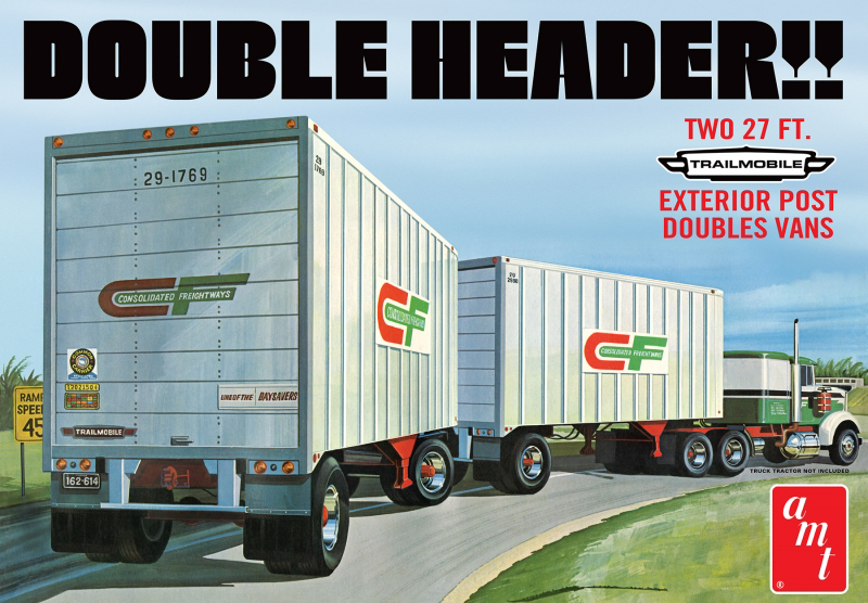1132 - AMT Double Header Tandem Van Trailers