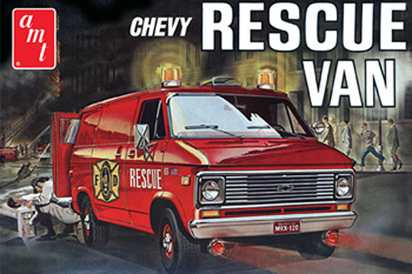 851 - AMT Fire Department 1975 Chevy Rescue Van