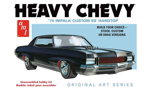 895 - AMT 1970 Chevy Impala Heavy Chevy Original Art