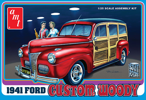 906 - AMT 1941 Ford Woody Molded