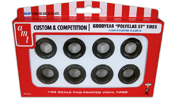PP006 - AMT Goodyear Polyglas GT Tires Parts Pack