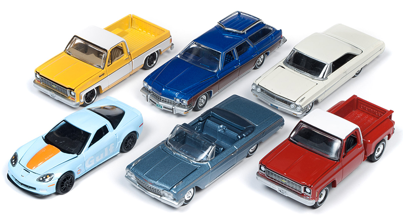 64222-A-CASE - Auto World 1 64 Diecast Premium 2019