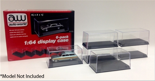 AWDC008 - Auto World Plastic Display Cases 6 Pack