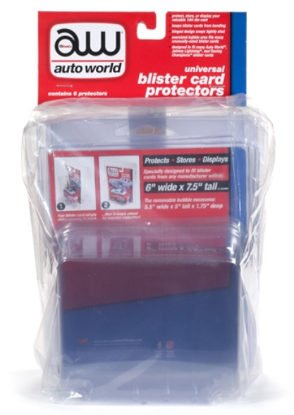 AWDC013 - Auto World Blister Card Protector 6 Pack