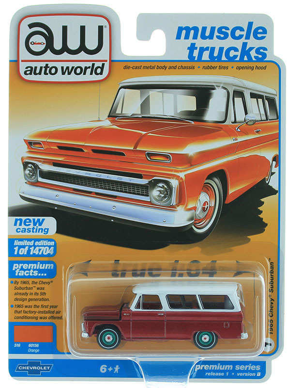 AWSP060-B-SP - Auto World 1965 Chevrolet Suburban ULTRA RED CHASE CAR