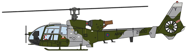24004 - Aviation 72 Westland Gazelle ZB692 British Army Current Scheme