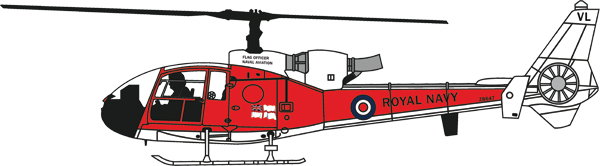 24010 - Aviation 72 Westland Gazelle Royal Navy Flag Officer ZB6
