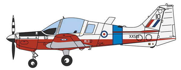 25005 - Aviation 72 Scottish Aviation Bulldog XX513 Basic RAF Trainer