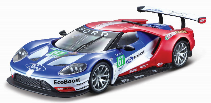 41158 - Bburago Diecast Ford Racing 2017 Ford GT 67 Race