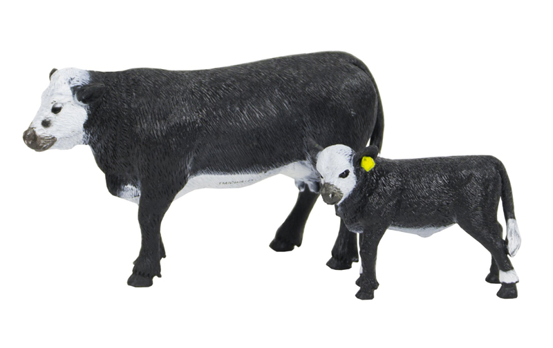 BC429 - Big Country Black Baldy Cow and Calf Compatible