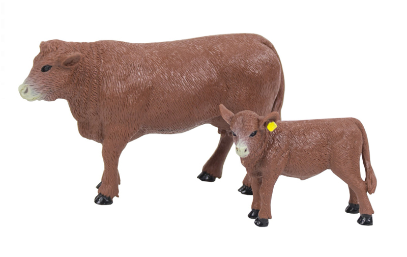 BC451 - Big Country Red Angus Cow and Calf Compatible