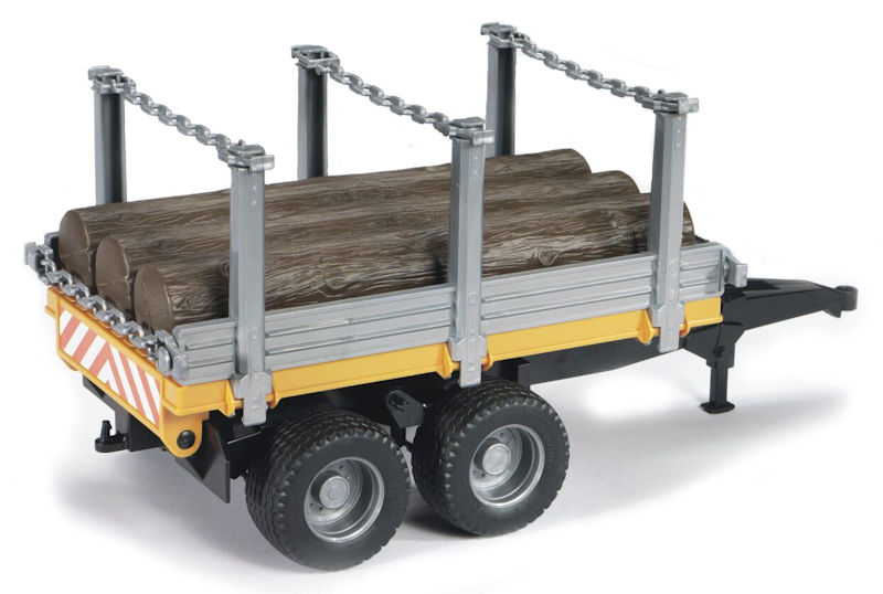 02213 - Bruder Toys Timber Log Trailer