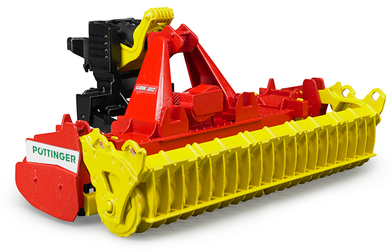 02346 - Bruder Toys Poettinger Lion 3002 Rotary Harrow Manufactured of