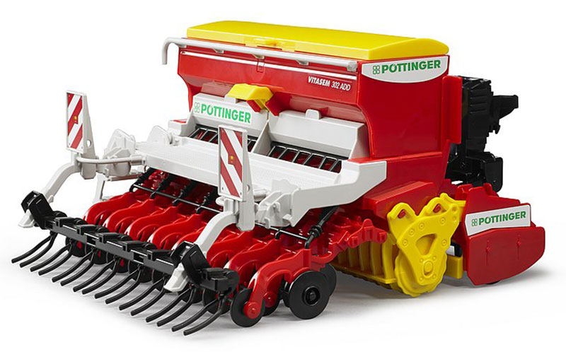 02347 - Bruder Toys Vitasem 302ADD Harrow Mounted Seed Drill