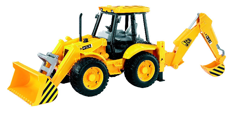 02428 - Bruder Toys JCB Loader Backhoe Front loader fully functional