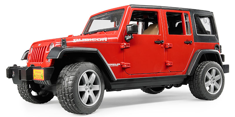 02525 - Bruder Toys Jeep Wrangler Unlimited Rubicon High Impact ABS