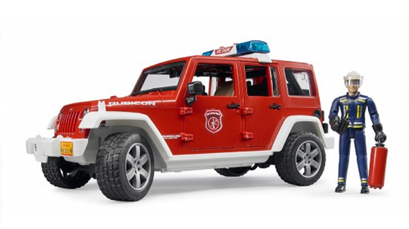 02528 - Bruder Toys Jeep Rubicon Fire Vehicle