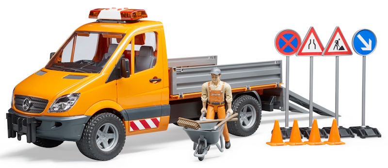 bruder toys mercedes benz sprinter municipal work truck. Black Bedroom Furniture Sets. Home Design Ideas