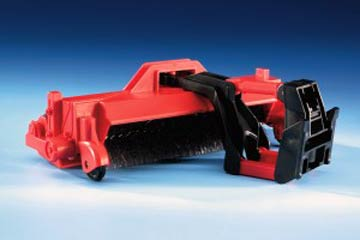 02583 - Bruder Toys Road Sweeper Rotating round brush when attached