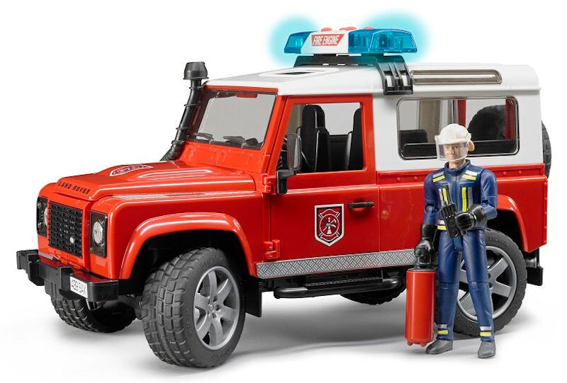 02596 - Bruder Toys Land Rover Fire Department Vehicle