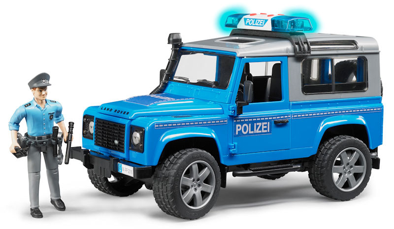 02597 - Bruder Toys Land Rover Police Vehicle