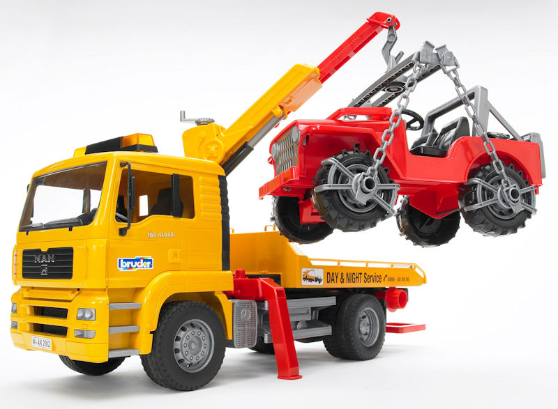 02750 - Bruder Toys MAN TGA Tow Truck