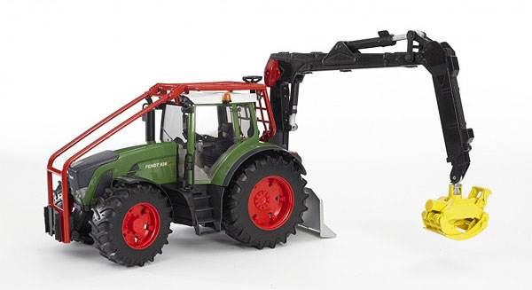 03042 - Bruder Toys Fendt 936 Vario Forestry Tractor Pro Series
