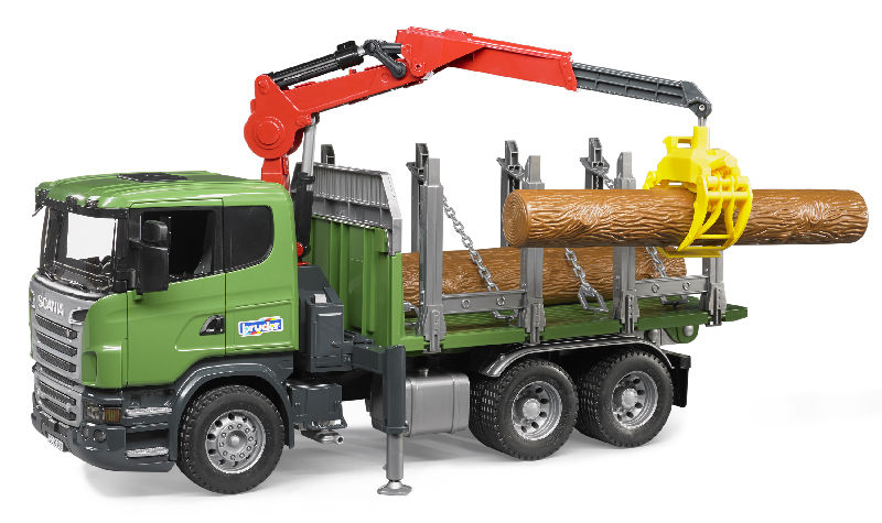 03524 - Bruder Toys Scania R Series Timber Truck